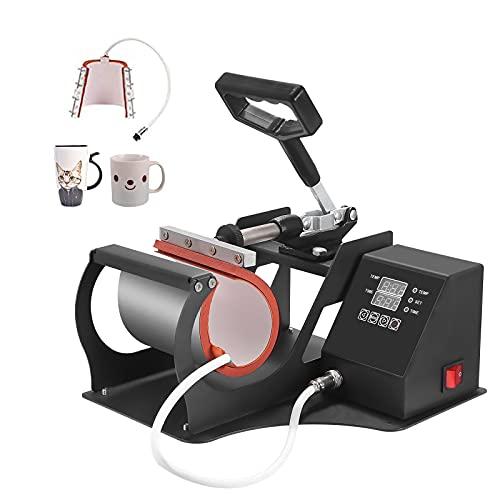 InLoveArts Prensa para tazas neumática,Sublimación Calor Prensa 300W Prensa de Sublimación,Máquina de...