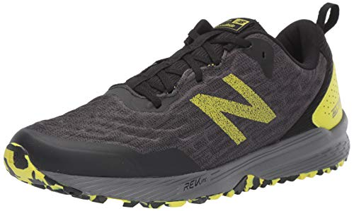 New Balance Men's Nitrel V3 Trail Running Shoe, Black/Yellow, 10.5 M US