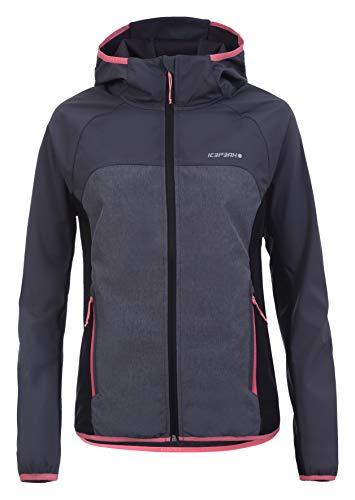 ICEPEAK Softshell-Jacke für Damen Decorah, Granit, 38