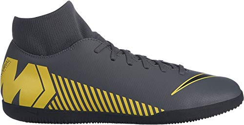 Nike Herren SuperflyX 6 Club IC Fußballschuhe, Grau (Dark Grey/Black-Opti Yellow 070), 44 EU