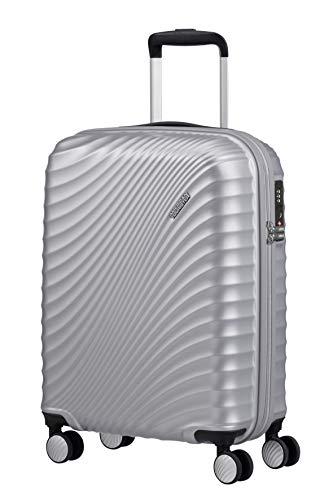 American Tourister Jetglam Spinner S Bagaglio a Mano, 55 cm, 35.5 litri, Argento (Metallic Silver)