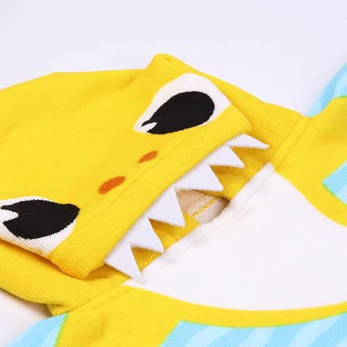 CERDÁ LIFE'S LITTLE MOMENTS-Toalla Poncho Playa Niño de Baby Shark de Microfibra-Licencia Oficial Nickelodeon 2200007331 🔥
