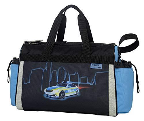 Polizei - Police - McNeill Schulsporttasche Sporttasche Schwimmtasche mit NASSFACH Freizeittasche Kindertasche