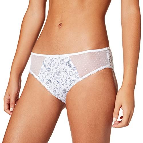 Dim Slip Generous Coton Bio sous-vêtement, Imprime Herbier, 42 Women