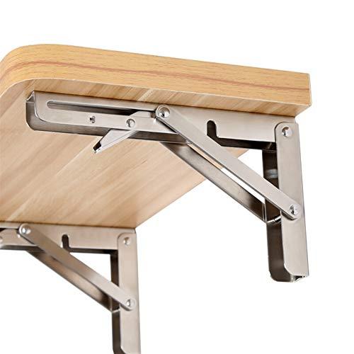 2 Stks, 10 Inch tot 16 Inch Goedkope Heavy Duty RVS Folding Bureau Tafel Muur Mount Beweegbare Hangende Hoek Plankbeugels (Maat: 12 Inch)