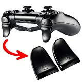 eXtremeRate Black 2 Pair Custom Trigger Extenders L2 R2 Buttons for Playstation 4 Controller, Game Improvement Adjusters for PS4 Pro Slim Controller
