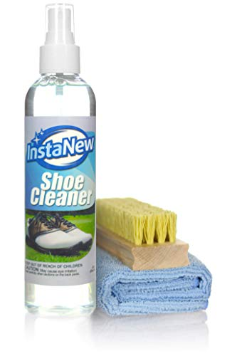InstaNew Shoe Cleaner Kit Includes Premium Brush and Microfiber Cloth for All Shoe Types