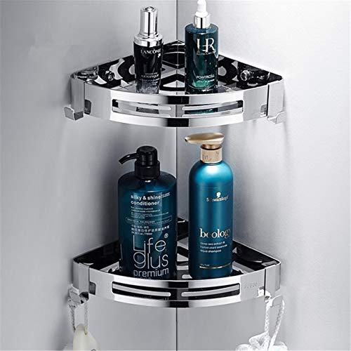 RAQ RVS Badkamer Planken Zilver Badkamer Accessoires Douche Hoek Plank Shampoo Opslag Rack Badkamer Mand Houder