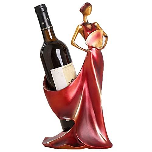 BAIHUO Estantería de Botellas, Estante de Vino de Encimera, Estantería de Botellas de Vino para Estantes de Presentación de Cocina y Barra Decoración Retro del Estante del Vino