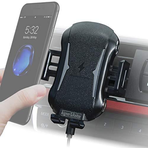 Handyhalterung Auto mit Ladefunktion für die Lüftung, KFZ Handy Halterung   induktives Laden am Lüftungsgitter   universal Handyhalter für alle Smartphone -iPhone Samsung Huawei Nokia und LG