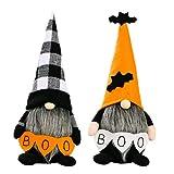 Ewolee Muñeco de peluche para Halloween, 2 unidades, juguete sueco de enano, decoración para fiestas familiares, Halloween, vacaciones, mesa de comedor, chimenea