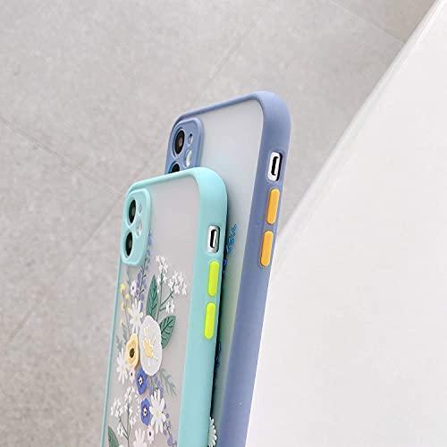 جراب NIUNU متوافق مع Xiaomi Redmi 9A من أجل ظهر شفاف من مادة PC بخلفية ثلاثية الأبعاد للفتيات والنساء من مادة TPU الناعمة حافظة نحيفة مضادة للصدمات لهاتف Xiaomi Redmi 9A - أزرق