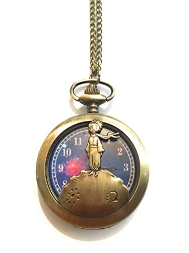Giulyscreations - Collar con reloj de metal sin níquel, el pequeño Principio, tono bronce