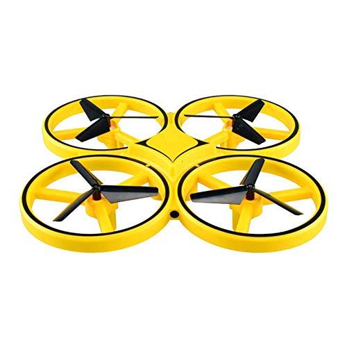FHKBB Quadcopter de inducción, dron de Control de Reloj, platillo Volante Interactivo Inteligente UFO Light Suspension Toy