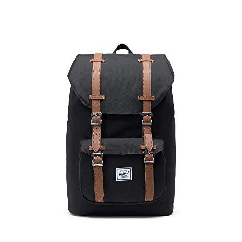 Herschel - Little America Mid Volume, Zaino casual, unisex, nero (black), Taille Unique