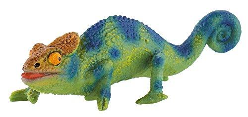 Bullyland 68498 - Spielfigur, Chamäleon, ca. 10,5 cm lang, ideal als Torten-Figur, detailgetreu, PVC-frei, tolles Geschenk für Kinder zum fantasievollen Spielen