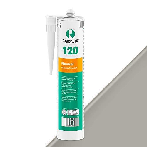 Ramsauer 120 Neutral 1K Silicona Sellador Cartucho 310 ml (Gris Sanitario)