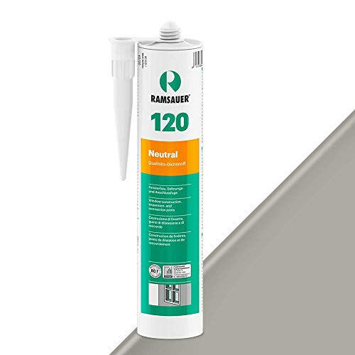 Ramsauer 120 Neutral 1K Silicona Sellador Cartucho 310 ml (Gris Sanitario)