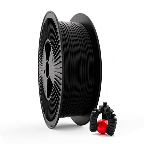 Filamento Elástico TPU FILAFLEX 60A PRO Dureza Shore/El más elástico (mejor que flexible)/Apto para los más expertos en impresión con flexibles en impresoras 3D (2.85 mm 3 kg. Negro)