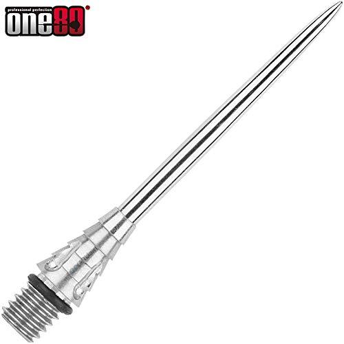 ONE80 Normal Steel Tip Schraubspitzen Wechselspitzen Conversion Point 2019 Silber (Modell A)