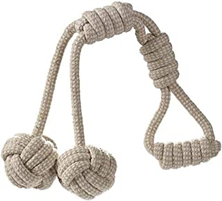 RvPaws Petcare Dog Chew Toys, Indestructible Cotton Braided Rope Toy, Best for Teething Puppy or Large Breed Aggressive an...