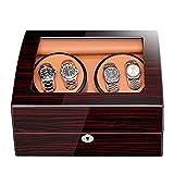 JYTFZD HAOYANG-Caja de Reloj- Relojes Reloj automático Winder Bay Watch Winder Rectángulo con luz Abra la Tapa y detenga el Movimiento silencioso/HDDSBYBQ-803