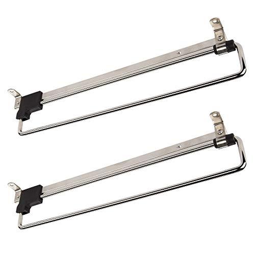 2 x SO-Tech Appendiabiti Porta-grucce Estraibile 300 mm Inserto per Armadio Gruccia Attaccapanni Estraibili | Acciaio