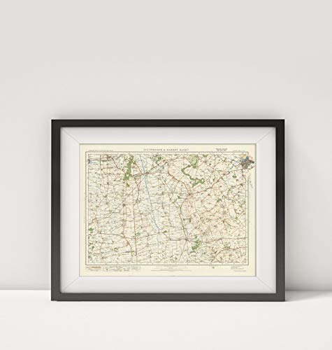 Mapa-Carto, LLC 1920 Map of England|Sheet 39. Scunthorpe & Market Rasen|Title: Sheet 39. Scunthorpe & Market Rasen.