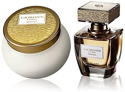 Set de Regalo ORIFLAME Giordani Gold Essenza Perfume 50ml + Crema corporal 250ml. Ideal para regalo .Mujer