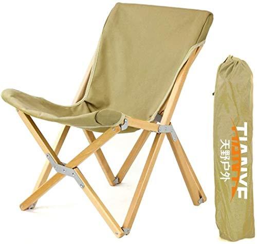 Woodtree Silla Silla Plegable al Aire Libre Que acampa Portable de la Siesta Silla de Madera de Aluminio de la Playa de Granos En Camp, Pesca, Senderismo