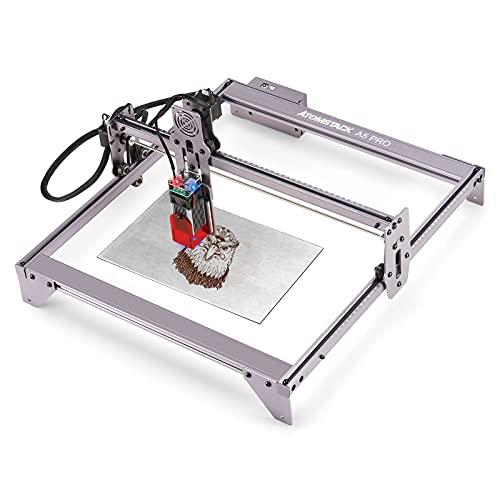 Fyearfly Máquina de Grabado, ATOMSTACK A5 Pro Engraver 40W máquina de Grabado y Corte para Metal, Vinilo, Madera, Cuero Enchufe de la UE