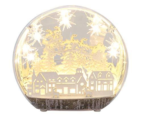 Toyland® Batteriebetriebene LED-WWeihnachtsgruß Design – Weihnachtsdekoration (Santa)