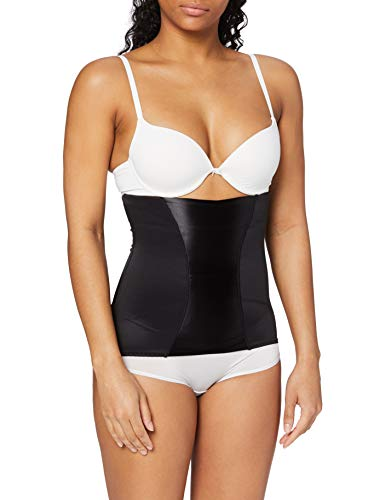 Maidenform Women's Trainer Easy Up Waist Cincher Shapewear with Anti-Static FL2368, Black, Small