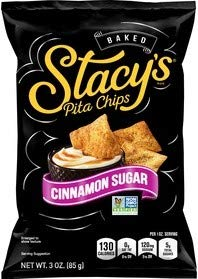 Stacy's Baked Pita Chips Cinnamon Sugar 3 Oz