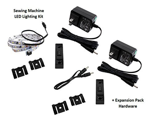 Sewing Machine LED Lighting Deluxe Kit - Includes Expansion Kit for 2 Machines- Perfect for Long-arm Machines!