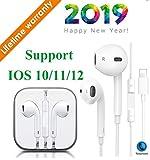 Écouteurs Intra-Auriculaires, Écouteurs avec Micro et télécommande pour iPhone 7/7 Plus / 8/8 Plus/X/XS/XS Max(Blanc)