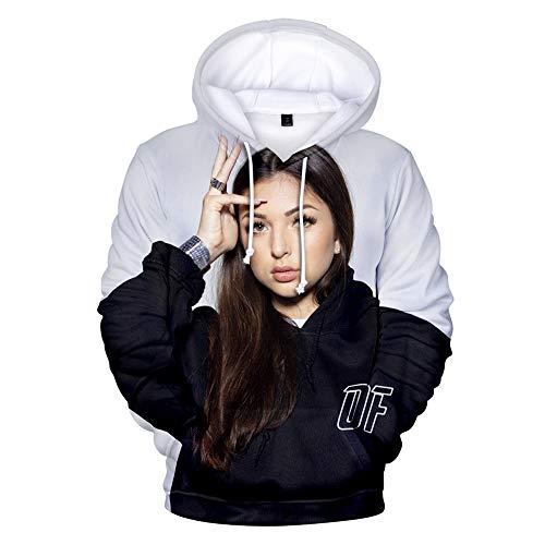 WAWNI - Sweat-shirt à capuche tendance Eva Queen pour homme - sweat de rue, style Hip-Hop, taille surdimensionnée, avec impression 3D - - S