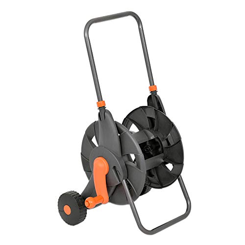 Vis Garden Hose Reel Cart with 2 Wheels and Handle Portable Water Hoses Retractable Carts Metal Retractable Handle Holds 200 Feet of 1/2Inch Hose for Yard Lawn FarmPatio