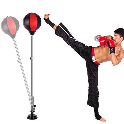 Qdreclod Punchingball Standboxsack 1.2-1.5m Höhenverstellbar Sandsäcke Punchingbälle Boxen Boxsack Boxstand Punching Stand Punchingball Set mit Boxhandschuhen Inflatorpumpe