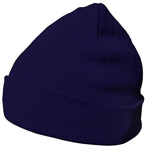 DonDon Bonnet Beanie pour l'hiver avec design classique et moderne, Bleu marine - Taille unique