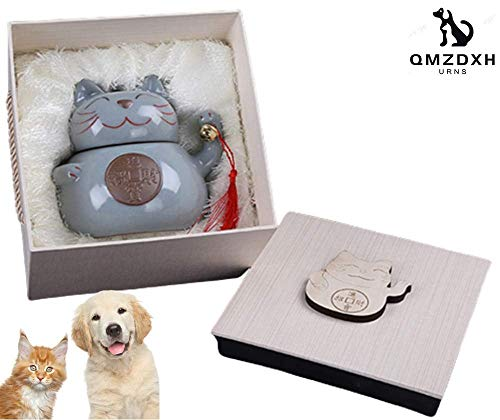 Xiaochongshan Precious Memories pet urns for Ashes Dog or cat Skull, Hand-Carved Casket Series, for 150 lbs or Less pet, Hand-Made, can Bring You The Best of Friends (Color : A)