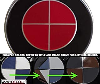 JustDecalIt Sticker Overlay Vinyl for All BMW Emblems Caps Logos Roundels (RED)