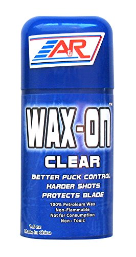 A&R Hockey Stick Wax On ½ Clear Rub On Stick 100% Petroleum Wax Protects Blade