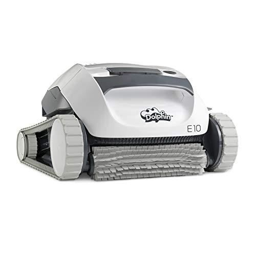 Robot limpiafondos automático Dolphin E10 de Maytronics. Limpiafondos portátil, ligero y fácil de limpiar. Ideal para piscinas elevadas