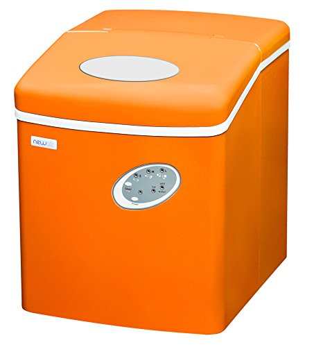 NewAir Portable Ice Maker 28 lb. Daily, Countertop Compact Design, 3 Size Bullet Shaped Ice, AI-100VO, Orange