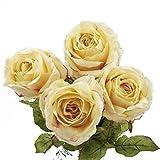 4 piezas de rosas artificiales artificiales para bodas, fiestas de novia, centros de mesa, mesas, decoración, altura 52 cm (sin jarrón)