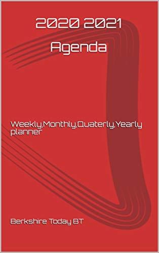 2020 2021 Agenda: Weekly,Monthly,Quaterly,Yearly planner (English Edition)
