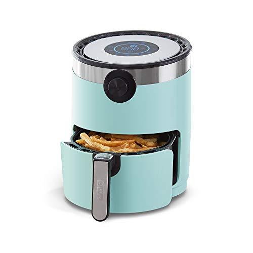 Dash DMAF360GBAQ02 AirCrisp Pro Electric Air Fryer + Oven Cooker with Digital Display + 8 Presets, Temperature Control, Non Stick Fry Basket, Recipe Guide + Auto Shut Off Feature, 3qt, Aqua