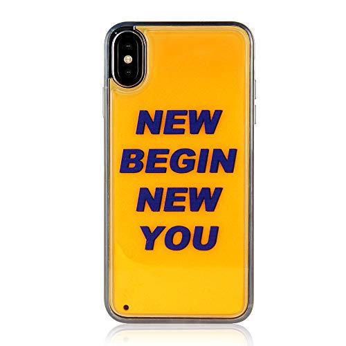 Oihxse ersatz für iPhone 6/iPhone 6s Hülle Nacht-Leuchtende Mit TPU Weichem Silikon Rahmen Kratzfeste Schutzhülle,Fluoreszierende Case mit flüssigem Sand,Stoßfeste Hülle für iPhone 6/iPhone 6s (A3)
