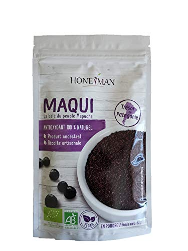 Poudre de Maqui Bio - 60g - Antioxydant 100% naturel - Honeyman